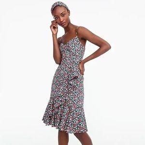 J. Crew Ruffle Dress in Liberty Sarah Floral NWT